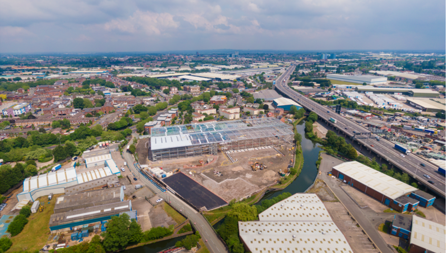 Steelworks are now complete at Xpanse 120, Oldbury